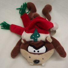 "Wb Looney Tunes Holiday Christmas Taz Laying Down 7"" Stuffed Animal"