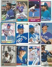 Huge Lot of 1000 Toronto Blue Jays Cards; 1986-1997; NM-Mint