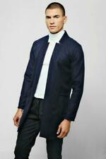 Blue Coats & Jackets Overcoat Wool Outer Shell for Men
