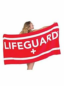 LIFEGUARD Officially Licensed Beach Towel Large Lightweight - Ideal for Beach