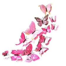 24 PCS 3D Butterfly Sticker Art Design Decal Wall Stickers Home Decor Room