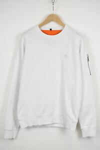 ALPHA INDUSTRIES Alpha FIT Men's LARGE White Sleeve Pocket Jumper 32756-GS