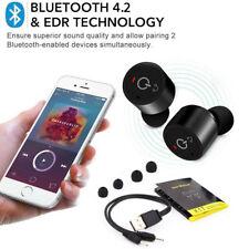 Mini Sport Oreillette écouteur Casque Bluetooth 4.2 TWS Sans fil Stéréo Mic