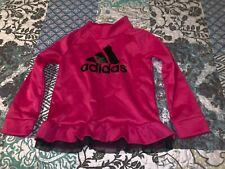 Adidas Girls Sweatshirt Dress Shocking Pink Size 5 NWOT