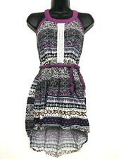 Kenji childs girl's size 8 new delhi purple floral paisley boho high low dress