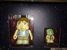 "Luke Skywalker 3"" and Yoda 1.5"" Limited Edition Set Vinylmation Star Wars Jedi"