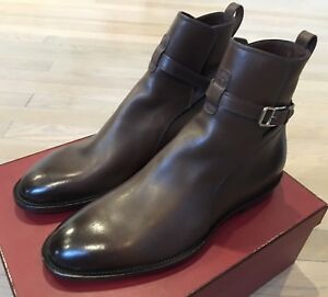 $1,000 Bally Hobston Brown Leather Ankle Boots Size US 6.5 Made in Switzerland