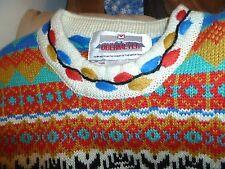 Vintage Obermeyer Ladies  Ski Wool Blend Sweater Sz S  colorful