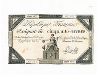 FRANCE REVOLUTION ASSIGNAT PA 72 50 LIVRES 14-12-1792 SIGN LECAEPS CIRC