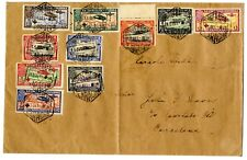 Sobre Carta España 1926 Pro Cruz Roja 339/348 10 valores 17 septiembre 1926