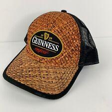 Guinness Adjustable Hat Black Straw Mens SnapBack