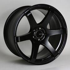 17x8/9 Enkei T6S 5x114.3 +40/45 Black Rims Fits Honda S2000 AP2 All
