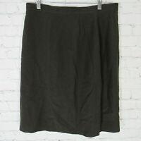 Giorgio Armani Skirt Womens Size 12 Brown Wool Blend Le Collezioni