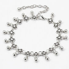 Antique Silver Boho Gypsy Beads Anklet Ankle Bracelet Foot Chain Women Jewelry