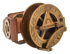 Gusti Leder 'Denise' Lederarmband Steampunk Uhr Kompass Sonnenuhr Armreif