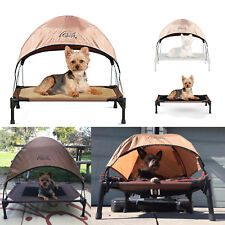 Elevated Pet Cot Waterproof Raised Indoor Outdoor Dog Cat Bed with Canopy Shade