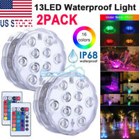 Submersible LED Lights RGB Multi Color Changing Waterproof Lamp & Remote Control