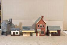 More details for scratch kit built o gauge 1920's country station & buildings backdrop model oa