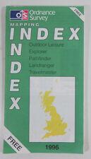 Old vintage OS Ordnance Survey Mapping Index 1996