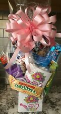 Mother's Day Candy / Snack Gift Basket / Gift Box Wrapped With Pink Bow