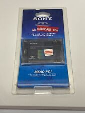 Nos Sony Memory Stick Pc Card Adapter Msac-Pc1 Made In Japan Japanese 90s Vtg