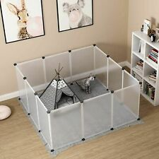 Portable Pet Playpen Panels Wire Exercise Large Pen Cage Yard For Small Animals
