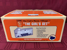 """1997 Lionel The Cat's Meow Village Rare """"The Girl's Set"""" New Mint in Box"""