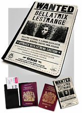 Bellatrix Lestrange Wanted Printed Faux Leather Passport Holder Cover Potter