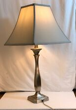 Large Chrome Table Lamp - with Shade - 57cm Excellent Condition
