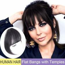 Clip in Bangs Real Human Hair Extensions Fringe Straight Flat Bangs One Piece