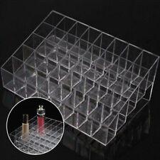 40 Slots Plastic Lipstick Holder Display Makeup Organizer Clear Storage Rack 1x