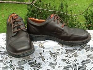 Clarks Men's Brown Leather Lace Up Casual Shoes Size 10.5