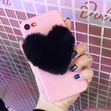 Lovely 3D Love Heart Cute hair Phone Case Cover For iphone X 8 7 6S Plus 5 5S SE