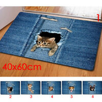 1Pc Fashion Kawaii Floor Mats Animal Cute Cat Dog Print Bathroom  Anti-Slip mat