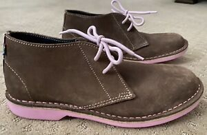Veldskoen Mens Heritage Chukka Boots Brown Suede Pink Soles  8 US