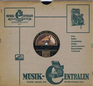 "78 rpm VILHELM HEROLD Glade Jul Dejlige Jul Danish Shellac 10"" 1910"