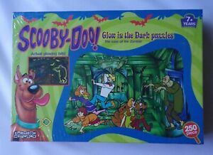 SCOOBY DOO 250 PIECE GLOW IN THE DARK PUZZLE THE CASE OF THE ZOMBIE NEW SEALED