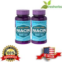 FLUSH FREE NIACIN 500 MG CARDIOVASCULAR HEART HEALTH VITAMIN SUPPLEMENT 200 CAPS