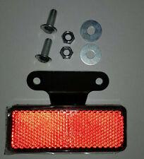 Reflektor 89x35 mm rot mit Halter Rückstrahler E-geprüft Katzenauge Motorrad