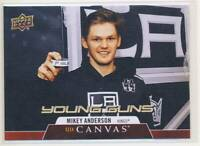 2020-21 Upper Deck Canvas #C117 Mikey Anderson YG Los Angeles Kings BX3
