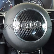 Noir fibre de carbone brillant airbag steering wrap s rs A1 A3 A4 A5 A6 A8 tt Q3 Q5 Q7