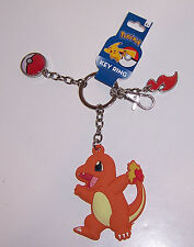 NINTENDO POKEMON CHARIZARD KEY CHAIN Ring Fob KEYCHAIN POKEBALL Flame Charms NEW