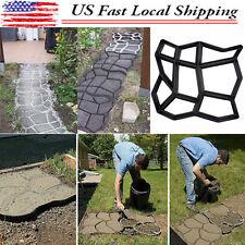 DIY Driveway Paving Pavement Mold Concrete Stepping Stone Path Walk Maker