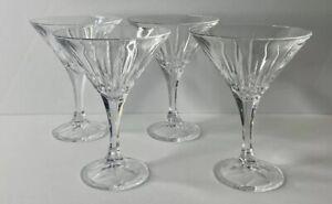 Godinger Shannon Crystal INGRID (4) Piece MARTINI GLASSES 24% Lead Crystal