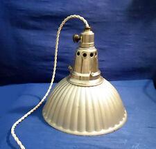 RARISSIME LAMPE ABAT-JOUR REFLECTEUR VERRE HOLOPHANE DOUILLE INTERUPTEUR B22