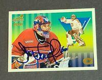 Jose Theodore Auto Montreal Canadiens 2000-01 Pacific Aurora SP Autograph