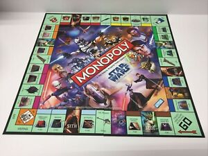 Monopoly Star Wars The Clone Wars Replacement Game Board EUC 2008
