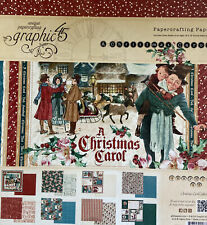 "Graphic 45 Paper-""A Christmas Carol"" 12x12 Paper Never Opened Rare Retired"