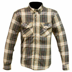 MERLIN AXE  ARMORED MOTORCYCLE RIDING SHIRT BROWN /GREEN NEW SIZE 2XL