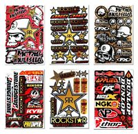Neu 6 Goldener Aufkleber für das Motorrad Sponsoren Supercross Motorradhelm A4